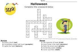 Halloween Crossword Answers - Easy ...