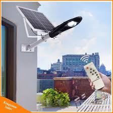 solar panel powered garden lamp 20w led street light for outdoor lighting with remote control pictures