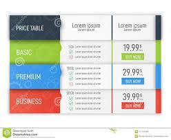 Comparison Infographic Template Price Table For Websites And Applications Business Infographic