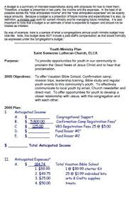 Church Budget Template 30 Templates Useful For Small And