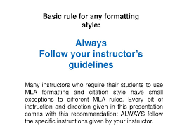 Mla Formatting Instructions Mla 8th Edition Formatting And Style Guide Ppt Download