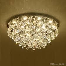 round design modern crystal chandelier lighting ac110v 220v re cristal ceiling led lights for living room bedroom vintage chandeliers kitchen