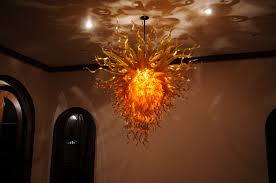 modern orange chandelier gold amber orange chandelier art glass chandeliers gallery