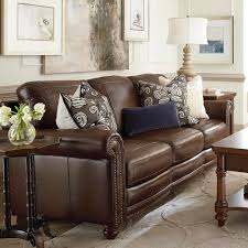 Leather Furniture For Living Room Hamilton Sofa Leather Living Room Bassett Furniture