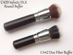 crown brush. review + comparison - crown brush c442 duo fiber buffer c439 round