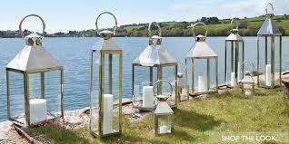 exterior candle lanterns. indoor/outdoor candle lanterns. slideshow. shop the look exterior lanterns i