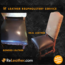 bonded leather chair upholstered to real leather