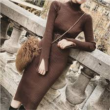 <b>Bodycon Sweater</b> Dress Women Winter <b>Knitted Sweaters</b> Long ...