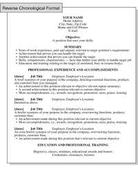 Reverse Chronological Resume Format Focusing On Work History Extraordinary Reverse Chronological Resume