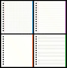 blank notebook pages stock vector ilration of copy 19070570