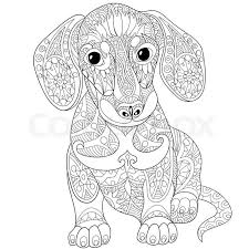 Dachshund Coloring Pages Adult Cricut Ideas Dog Coloring Page