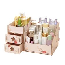cosmetic make up makeup drawer pen desk tidy storage box wooden organiser holder 4 4 of 11 see more