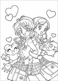 Chibi Anime Girl Coloring Pages Printable New Printable Anime