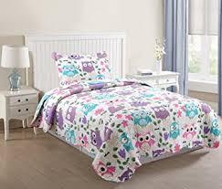 Amazon.com: MarCielo 2 Piece Kids Bedspread Quilts Set Throw ... & MarCielo 2 Piece Kids Bedspread Quilts Set Throw Blanket for Teens Boys  Girls Bed Printed Bedding Adamdwight.com
