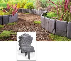 interlocking faux stone border stone