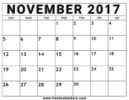 Printable 2017 Calendar November 24 Printable Calendar Templates 15