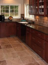 Models Dark Tile Flooring Ideas Kitchen Floors With Cabinents An Average Sized Impressive Design