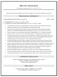 Human Services Resume Objective Entry Level Human Services Resume