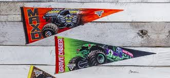 whole monster jam pennant flags