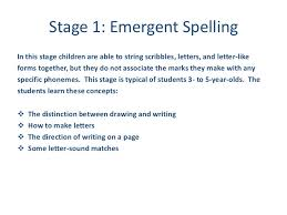 Five Stages Of Spelling Development