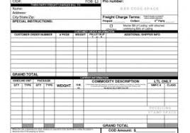 bill of lading printable form sample bill of lading form or blank receipt template example mughals