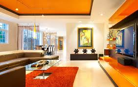 Orange Living Room Design New in Home Decorating Ideas
