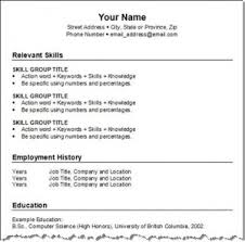 Resume Format For Editing Twnctry