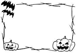 怖いハロウィンかぼちゃ手書きイラストフレーム枠