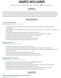 Management Resume Office Management Resume Sample ResumeLift 56