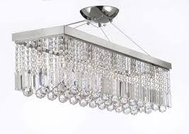 10 light 40 contemporary crystal chandelier rectangular chandeliers lighting com