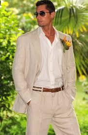 Linen Suits For Beach Wedding