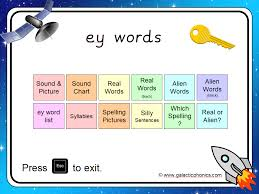 Choose the word that has a particular sound. The Ey Powerpoint Alien Words Phonics Digraph