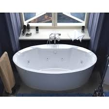 Jetted freestanding tubs Oval Freestanding Shop Atlantis Whirlpools Suisse 34 68 Oval Freestanding Whirlpool Jetted Bathtub In White On Sale Free Shipping Today Overstockcom 8930326 Overstock Shop Atlantis Whirlpools Suisse 34 68 Oval Freestanding Whirlpool