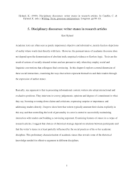 disciplinary discourses writer stance in research articles pdf  disciplinary discourses writer stance in research articles pdf available