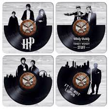 Small Picture Wall clock made of vinyl record awesom home decoration or gift