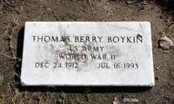 Thomas Berry Boykin (1912-1993) - Find A Grave Memorial