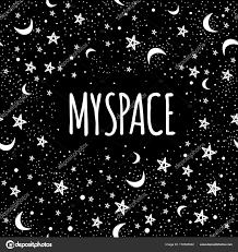 Vektorové Módní Ilustrace Galaxie Můj Prostor Kresleného Umění