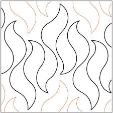 Flame Pattern Gorgeous Aqua Flame Quilting Pantograph Pattern By Lorien Quilting