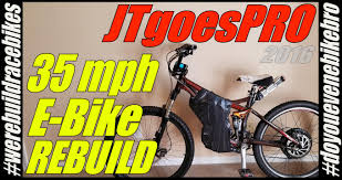 fast diy e bike 48v 1000w hub motor 18650 rebuild ebike build 005 jtgoespro you