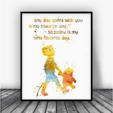 Christopher Robin Quotes Unique Winnie The Pooh And Christopher Robin Quote Art Print Poster Carma Zoe