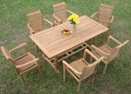 teak patio set. Luxurious 7-piece Grade-A Teak Dining Set Patio U