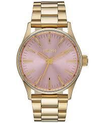 Nixon Watch Display Stand Enchanting Nixon Sentry 32 SS Light Gold Pink Watch Zumiez