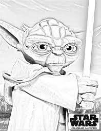 Small Picture Clone Wars Coloring Pages clone wars yoda 2 Cartoon Jr craft