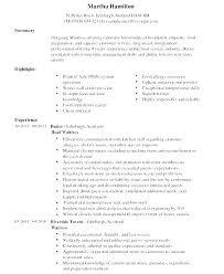 Resume For Food Server Food Server Resume Samples Restaurant Server Resume Objective Food