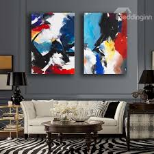 40 abstract colorful painting 2 pieces framed wall art prints on 2 piece framed wall art with abstract colorful painting 2 pieces framed wall art prints
