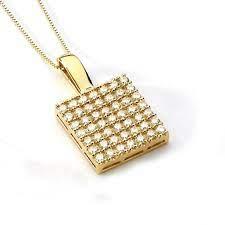 14k yellow gold cubic zirconia pendant