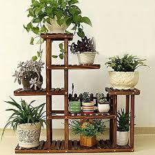 plant stand shelf bamboo wooden plant stand indoor outdoor garden planter flower pot stand shelf diy