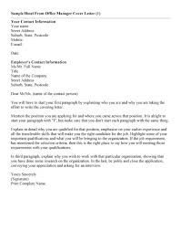 Office Manager Cover Letters Resume Template Info