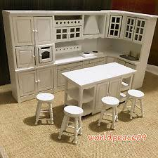 dollhouse miniature white integrated kitchen furniture set 112 scale model dreamz bathroom dollhouse