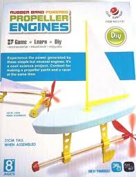 sailing boat kit diy rubber band powered propeller engines nautical project 701030556412